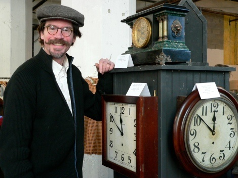 David Sokosh of Clinton Hill Clocks restores and repairs