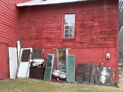 Gino's barn, Rt 9 - organic vegs & architectural salvage