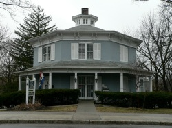 Red Hook Public Library - an octagon house!