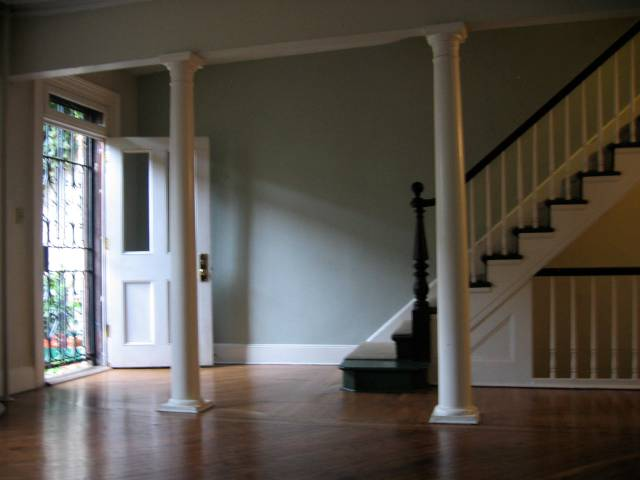 Parlor floor on Verandah Place (we opened up the hall and added the columns)